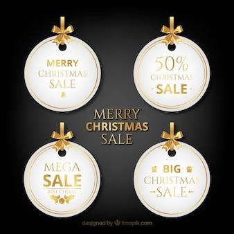 Zestaw tagów świątecznej sprzedaży