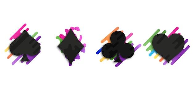 Zestaw talii kart kolorów