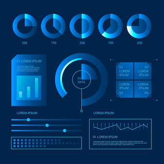 Zestaw technologiczny infografiki