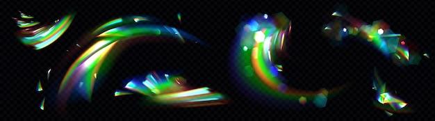 Zestaw tęczowego kryształowego światła