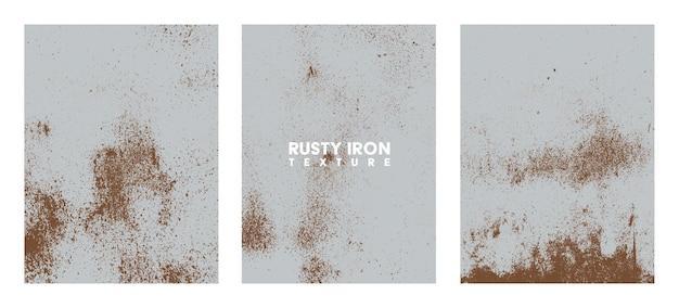 Zestaw tekstur zardzewiałych żelaza