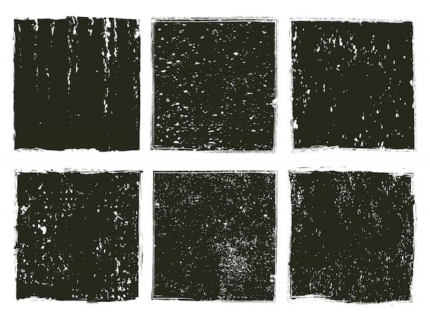 Zestaw teksturowanej tło grunge