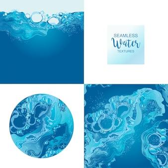 Zestaw tekstury wody wektor