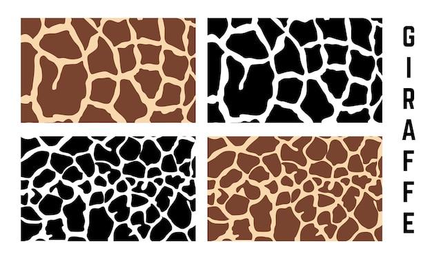 Zestaw tekstury wzór skóry żyrafa