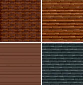 Zestaw tle ściany z cegły