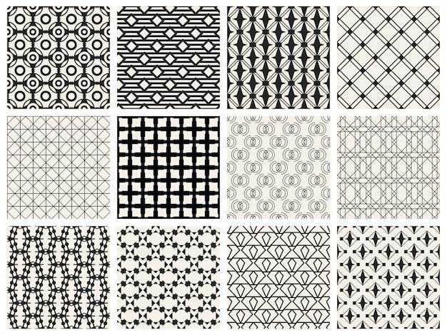 Zestaw tło monochromatyczny wzór geometryczny.