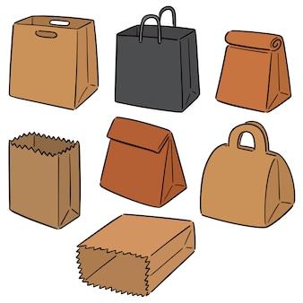 Zestaw torby papierowej