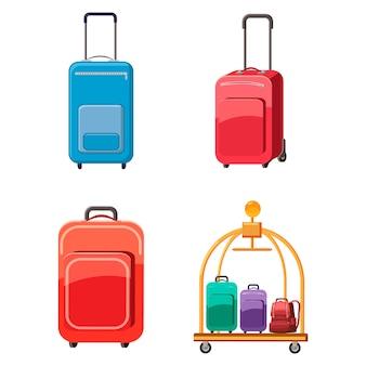 Zestaw toreb podróżnych. komplet kreskówka torba podróżna