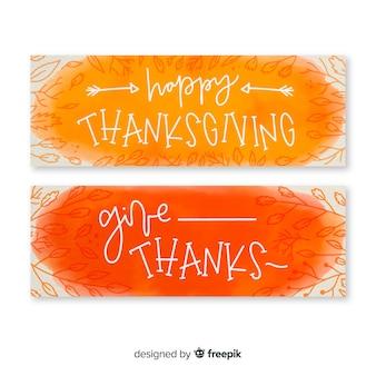 Zestaw transparent akwarela dziękczynienia