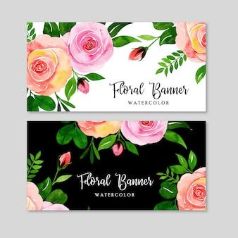 Zestaw transparent kwiatowy akwarela