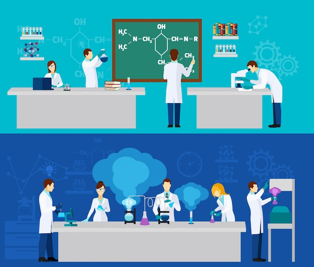 Zestaw transparent naukowca