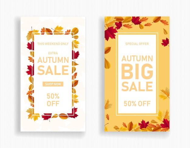 Zestaw transparent sprzedaż jesień