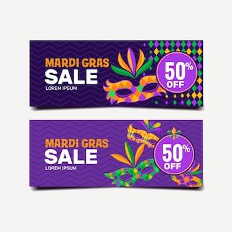 Zestaw transparent sprzedaż mardi gras