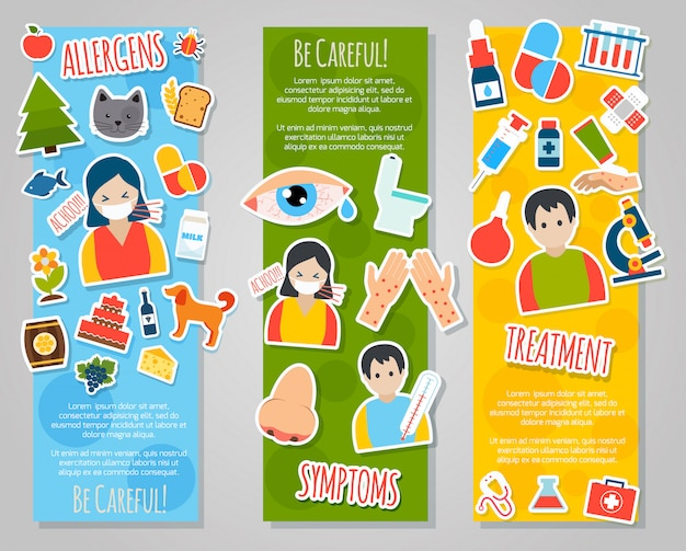 Zestaw transparentów alergii