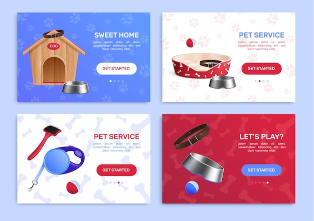 Zestaw transparentu akcesoriów dla psa
