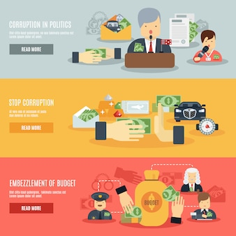 Zestaw transparentu korupcji