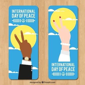 Zestaw transparentu pokoju z strony wykazujące dwa palce