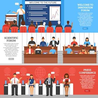 Zestaw transparentu prezentacji konferencyjnej