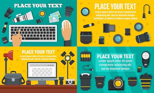 Zestaw transparentu sprzętu fotografa