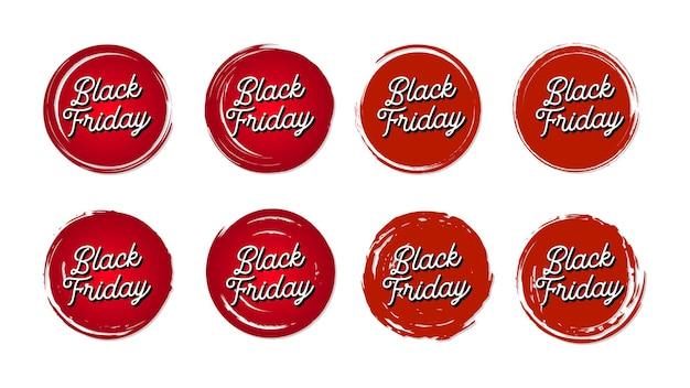 Zestaw transparentu w stylu vintage czarny piątek
