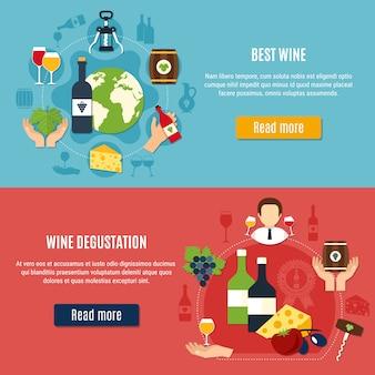 Zestaw transparentu wina