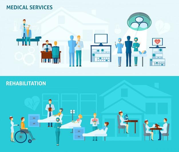 Zestaw transparenty lekarzy