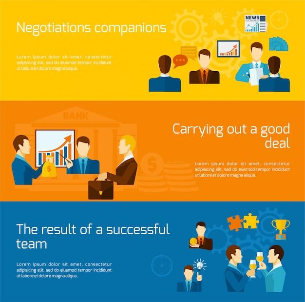 Zestaw transparenty poziome partnerstwa
