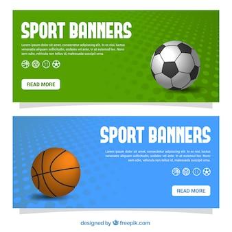 Zestaw Transparenty Sport Darmowych Wektorów