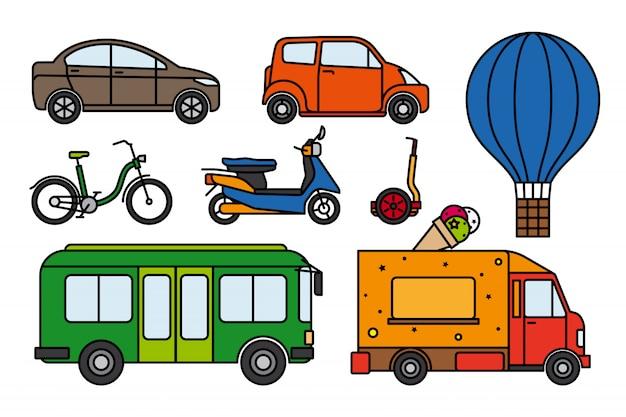 Zestaw transportu miejskiego