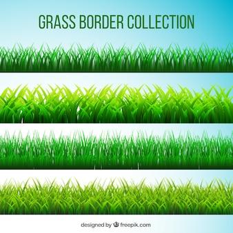 Zestaw trawnikach w realistycznym stylu