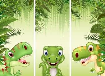 Zestaw trzech dinozaurów