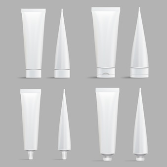 Zestaw tubek kosmetycznych