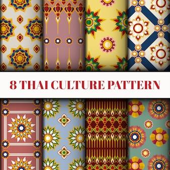 Zestaw tupot tajski styl wektor