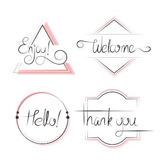 Zestaw typografii odznaki projekt wektor