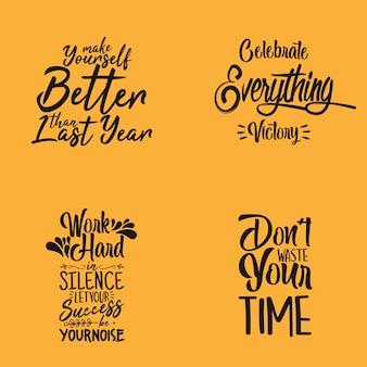 Zestaw typografii