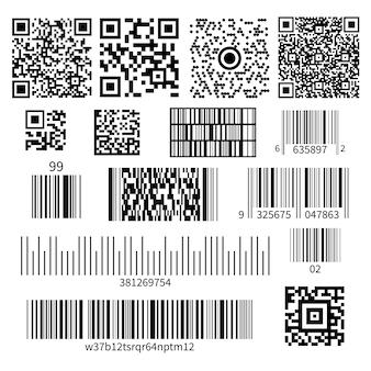 Zestaw typów kodów kreskowych