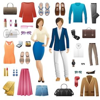 Zestaw ubrań i akcesoriów