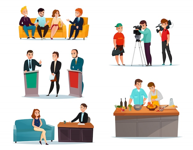Zestaw uczestników talk-show