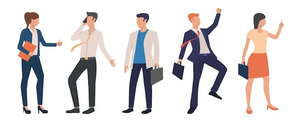 Zestaw udanych biznesmenów