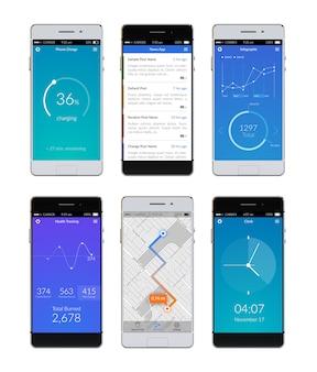 Zestaw ui smartfona