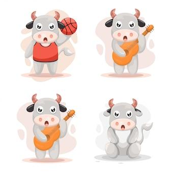 Zestaw urocza krowa