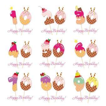 Zestaw urodzinowej rocznicy