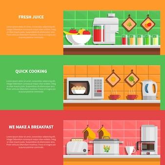 Zestaw urządzeń gospodarstwa domowego banery
