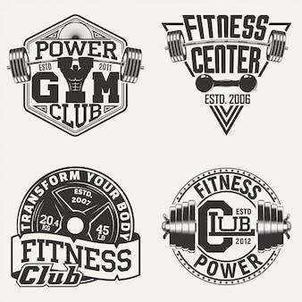 Zestaw vintage emblematów
