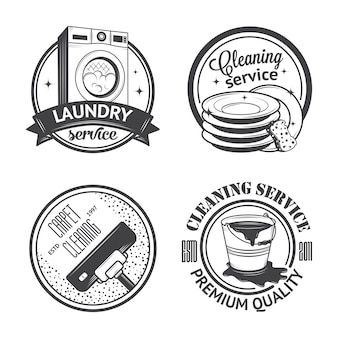 Zestaw vintage logo
