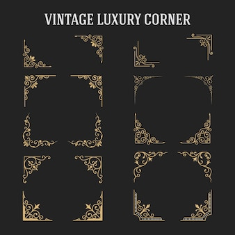 Zestaw vintage luxury corner design