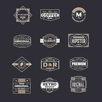 Zestaw vintage odznakę
