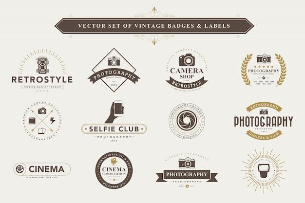 Zestaw vintage odznaki i etykiety.