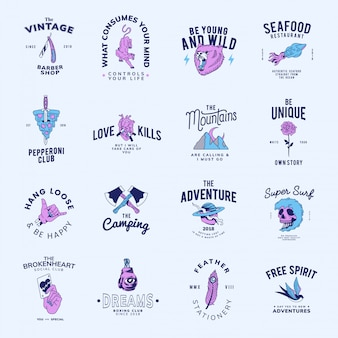 Zestaw vintage odznaki projekt wektor