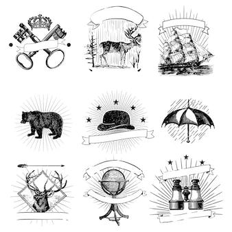 Zestaw vintage odznaki wektor
